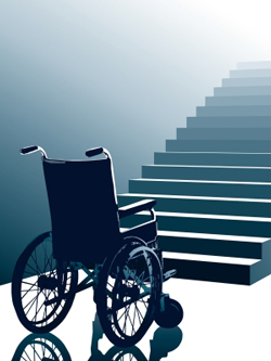 Wheelchair Accessible Entrance Rubber Threshold Ramps for ADA compliance