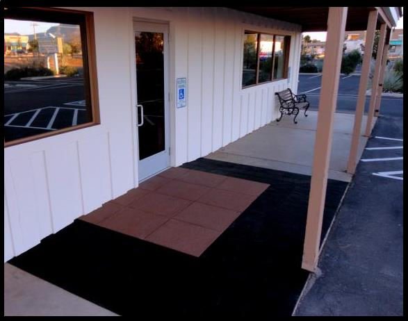 EntryLevel Landing SafePath Products for ADA wheelchair access Threshold ramps Rubber High Rise buildings Multi Family Housing EZ-Access